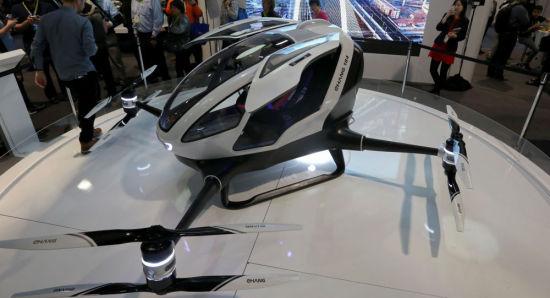 中国研发出全球首架民用载人无人机