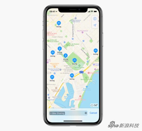 苹果地图在全球179个城市加入共享单车服务