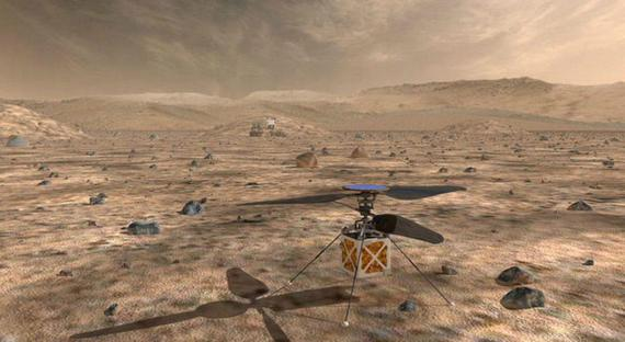 美国宇航局将在2021年放飞首架火星无人直升机