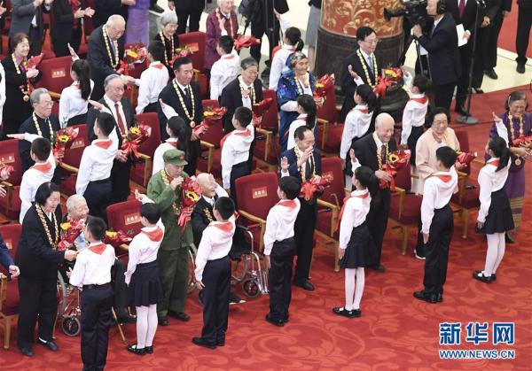 (时政)(11)国家勋章和国家荣誉称号颁授仪式在京举行
